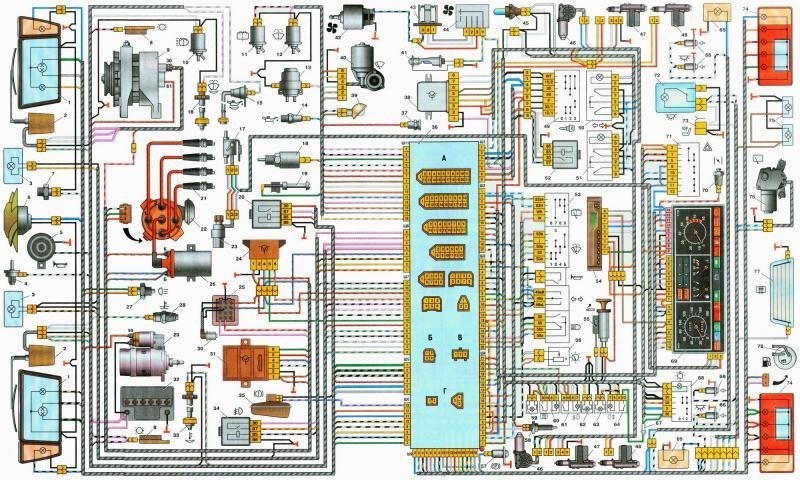 04 nizkaya - Электросхема ваз 2109 инжектор высокая панель