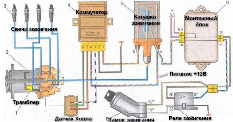 05 nizkaya - Электросхема ваз 2109 инжектор высокая панель